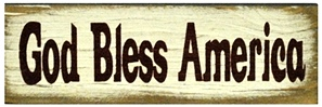 God Bless America| Handcrafted, Distressed Wood Sign